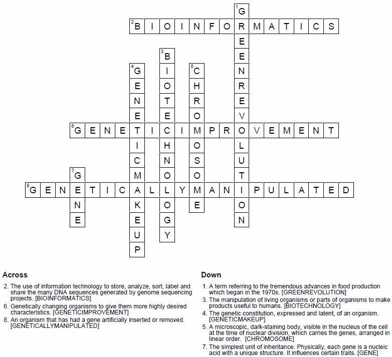 Biotechnology ePrep word puzzle
