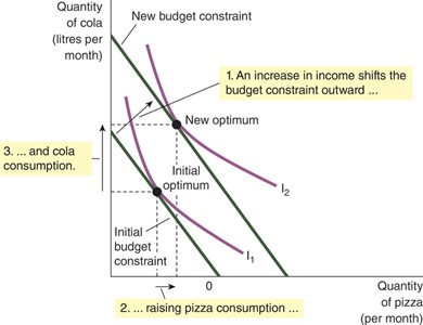 How Changes in Income Affect the Consumer's Choices