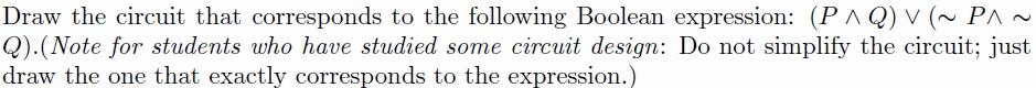 Discrete Mathematics - Logic Circuit
